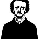 Poe Black & White by Lisa Vollrath