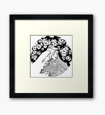 Waves and Flowers Framed Print