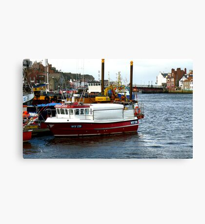 Whitby Harbour #2 Canvas Print