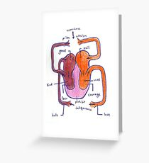 heart diagram Greeting Card