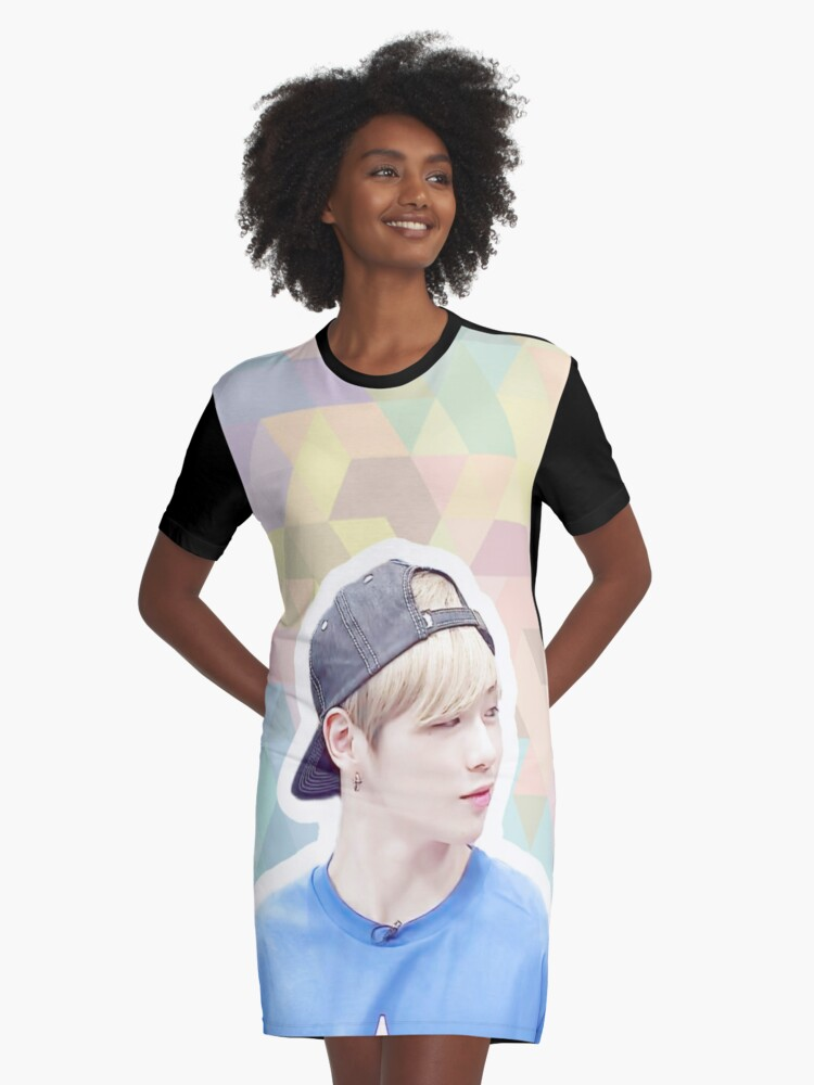 'Wanna One Kang Daniel' Graphic T-Shirt Dress by nishapatel7798
