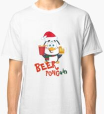 Funny Beer Pong Penguin Christmas Item - Ponguin Classic T-Shirt