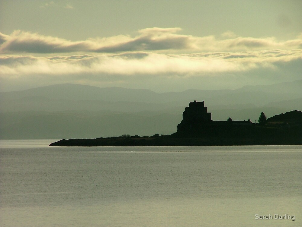 Duart Castle Silhouette by Sarah Darling