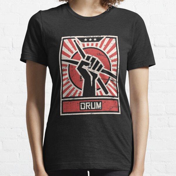 DRUM   Vintage Drummer Propaganda Poster Essential T-Shirt