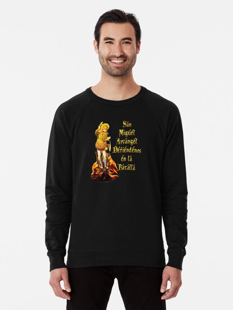 'San Miguel Arcangel Spanish St Michael the Archangel Prayer' Lightweight  Sweatshirt by hispanicworld