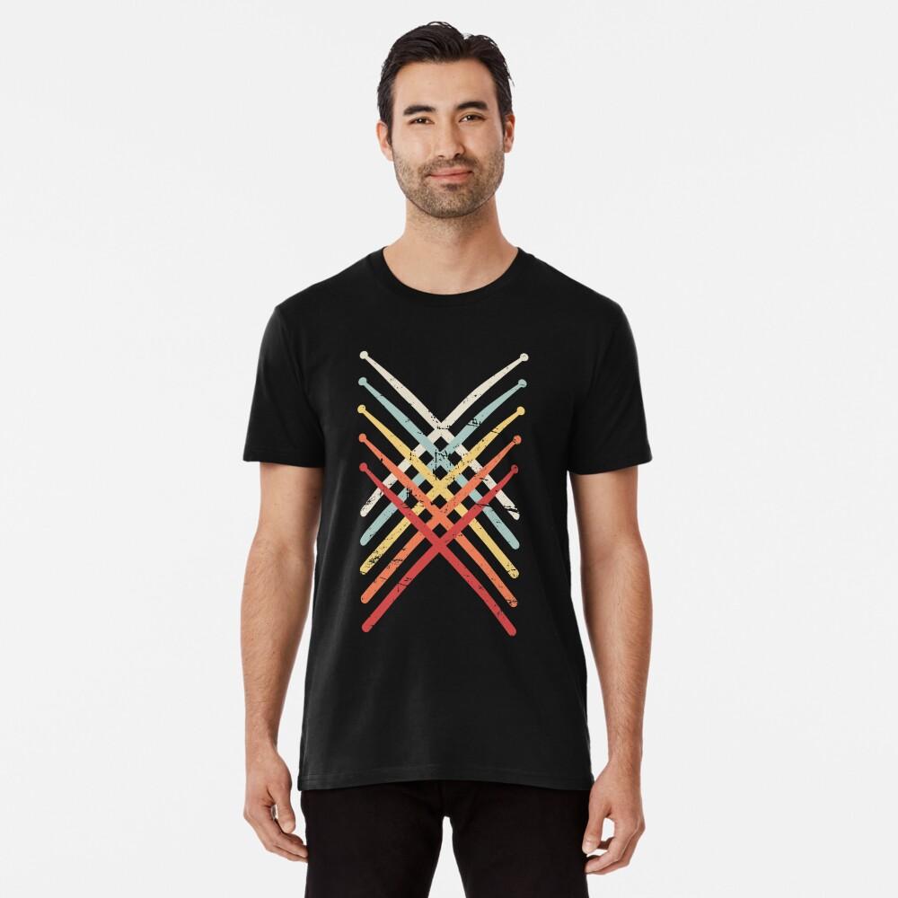 Retro Vintage Drumsticks | Design für Schlagzeuger Premium T-Shirt