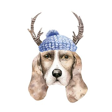 Dog in a knitted beanie by dogobsession