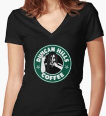 Duncan Hills Coffee Women's Fitted V-Neck T-Shirt
