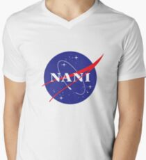 NANI NASA logo Men's V-Neck T-Shirt