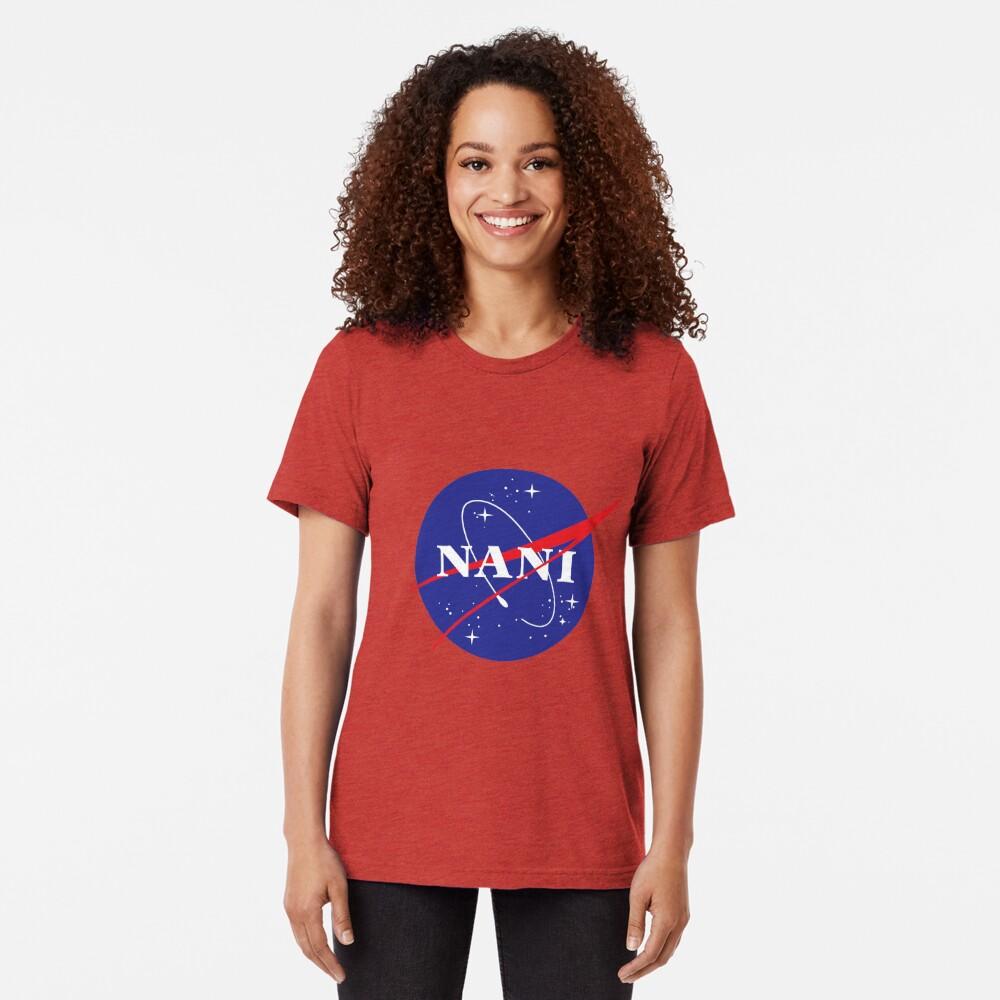 NANI NASA logo Tri-blend T-Shirt