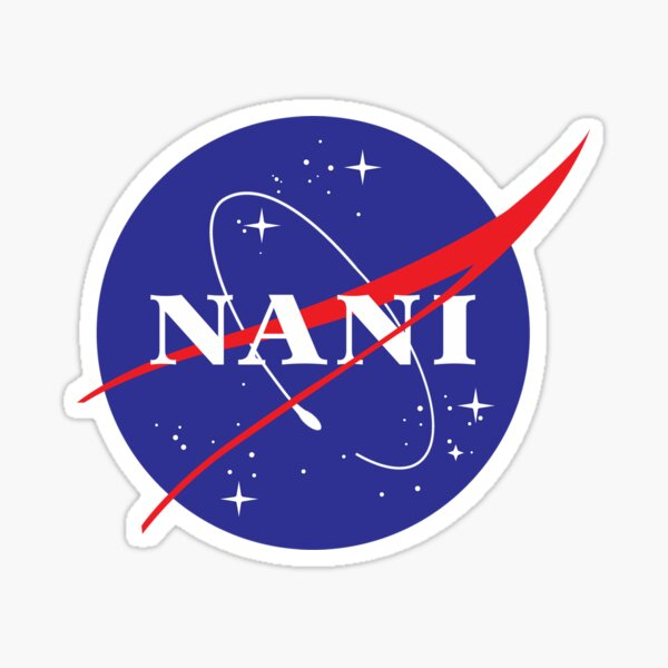 NANI NASA logo Sticker