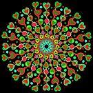 Christmas and Holiday Love Mandala by Betty Mackey