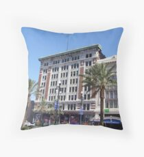 Canal Street Buildings Throw Pillow
