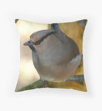 Waxwing........ Throw Pillow