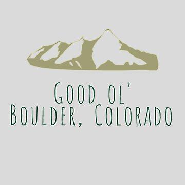 Good Ol' Boulder, Colorado by jgarnas