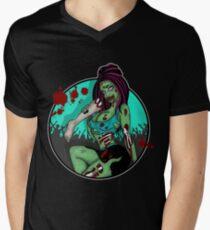 ZOMBIE PIN UP Men's V-Neck T-Shirt