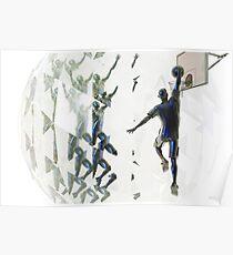 Light bending refraction basketball Poster