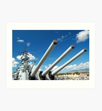 USS Missouri 16-inch guns Art Print