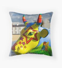 Play Trail - Asperations Cow, Ebrington Throw Pillow