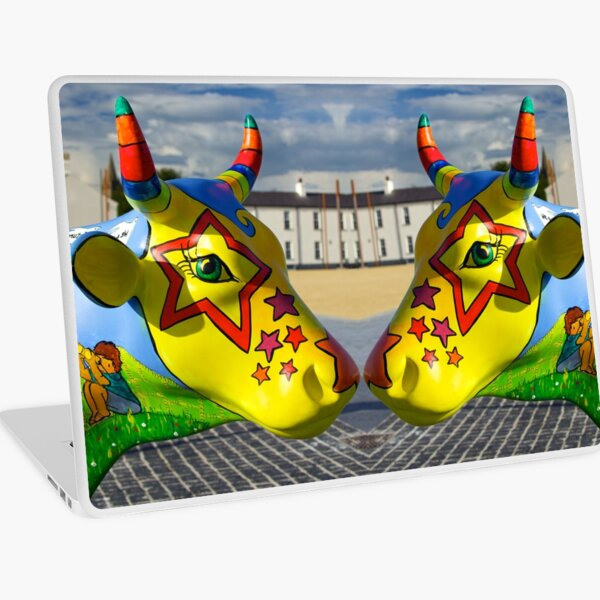 Play Trail - Asperations Cow, Ebrington Laptop Skin