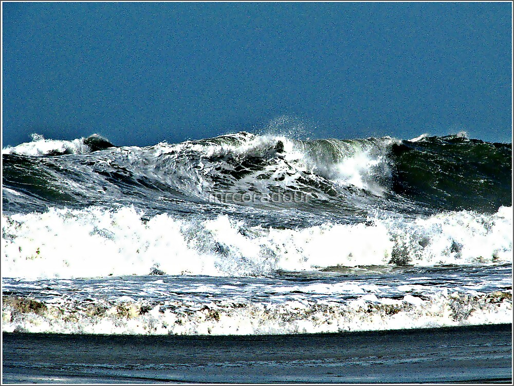 On Shore Winds made the Sea higher then usual by Malcolm Chant