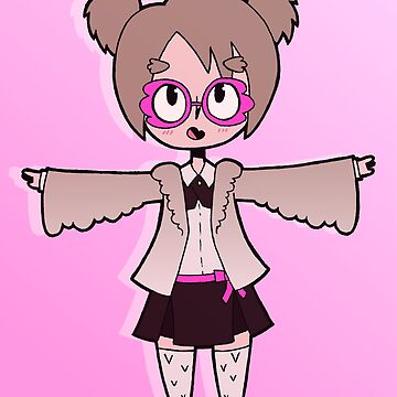 Cute Owl Student Girl by Pencil-Princess