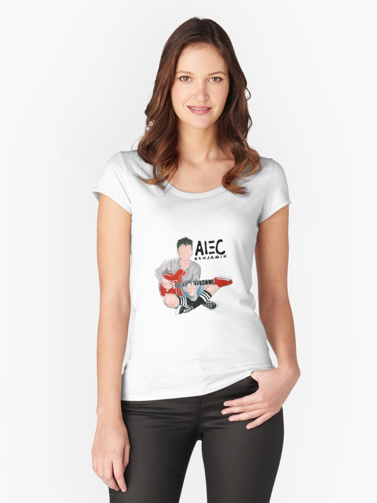 Alec Benjamin Sticker His Filter Womens Fitted Scoop T Shirt By