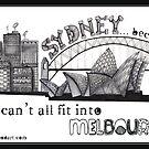 Melbourne vs Sydney by Jenny Wood