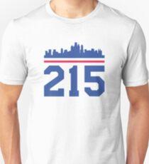 Philadelphia Skyline 215 Design T-Shirt