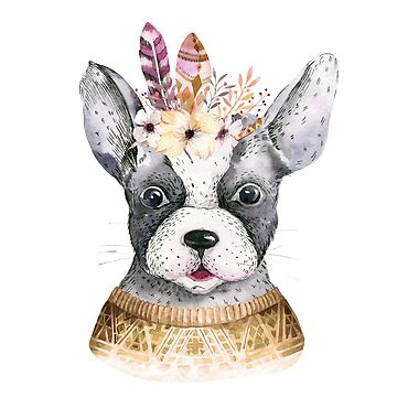 Dog in a flower crown II by dogobsession