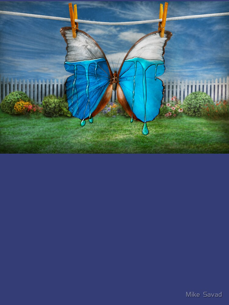 Butterfly - Morpho - I hate it when the colors run by mikesavad
