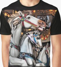 Vintage Horse Carousel Merry-Go-Round Carnival Ride  Graphic T-Shirt