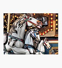 Vintage Horse Carousel Merry-Go-Round Carnival Ride  Photographic Print