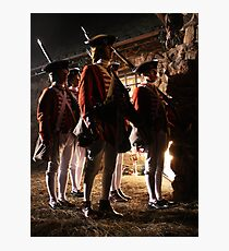 The Redcoats Came Marching, Marching... Photographic Print