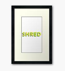 Shred Framed Print