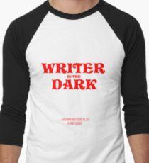 Camiseta ¾ bicolor para hombre escritor en la oscuridad
