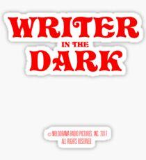 writer in the dark Sticker