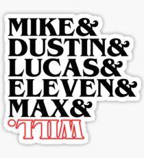 Dark Stranger Things 2 Cast - Funny Stranger Things Parody Sticker T-Shirt Pillow Sticker