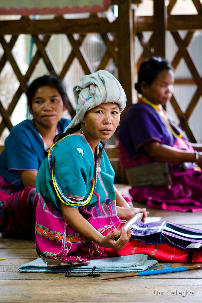 Hmong Tribeswoman Weaving by Dan Gallagher