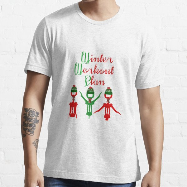 Holiday Workout T shirt Mens Women Funny Wine Fitness Training Bodybuilding Gift