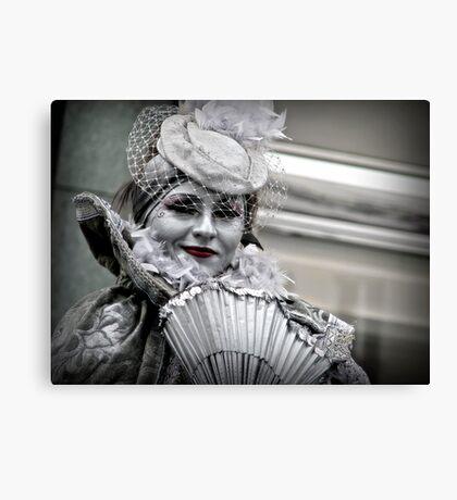A silvery smile Canvas Print