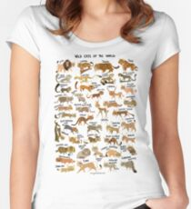 Wild Cats of the World Women's Fitted Scoop T-Shirt