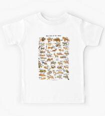 Wildkatzen der Welt Kinder T-Shirt
