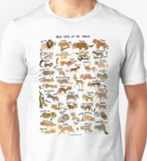 Wild Cats of the World Unisex T-Shirt