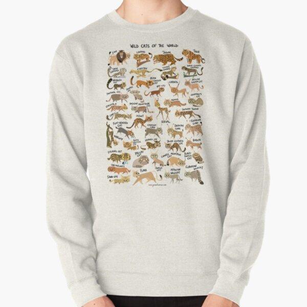 Wild Cats of the World Pullover Sweatshirt