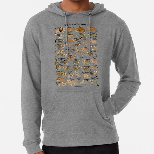 Wild Cats of the World Lightweight Hoodie