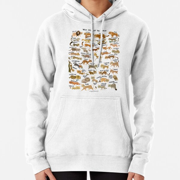 Wild Cats of the World Pullover Hoodie