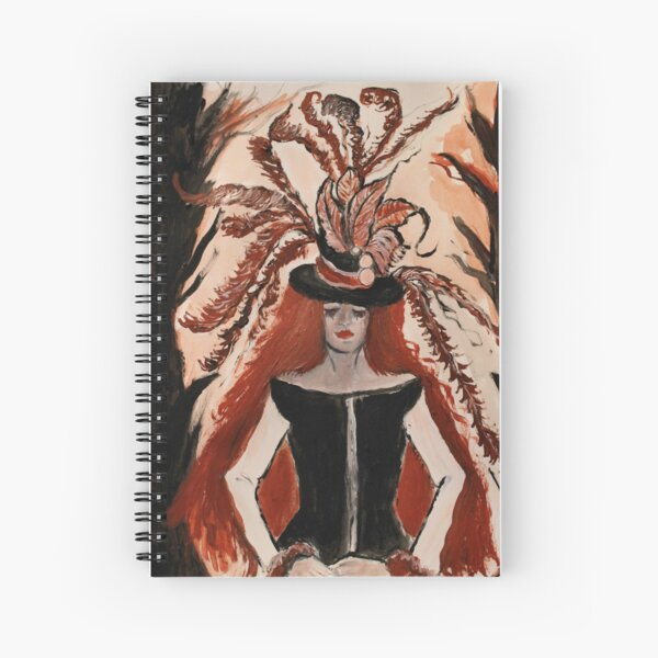 Phantom of the Solstice Spiral Notebook