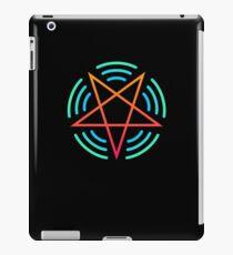 Pentagram Audio Wave Forms   EDM Rave Design iPad Case/Skin