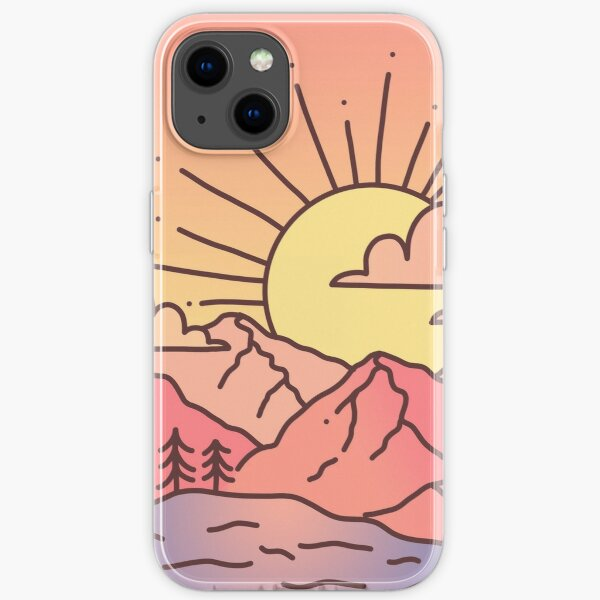 Sunset Mountains iPhone Soft Case